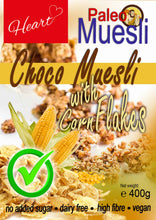 No Added Sugar Dairy Free Paleo Choco Corn Flakes Muesli 400g
