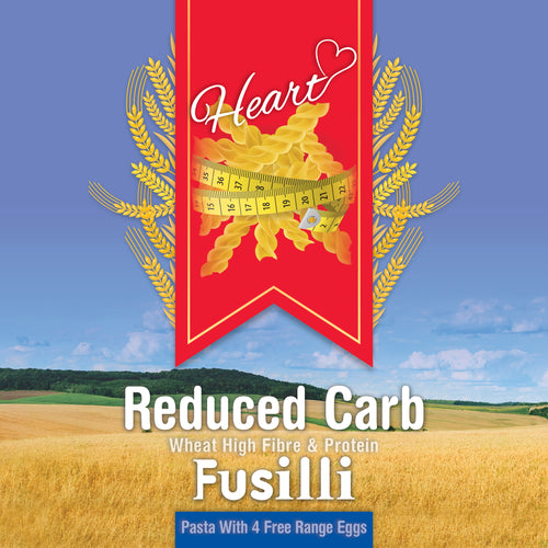 Low Carb Wheat Fusilli Pasta 1KG-heart-cafe.co.uk
