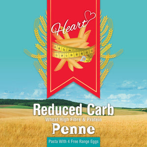 Low Carb Wheat Penne Pasta with Eggs-heart-cafe.co.uk