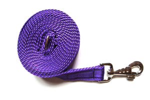 Horse lunge line dog training lead 10ft in purple