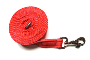 Horse lunge line dog training lead 10ft in red