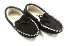 Load image into Gallery viewer, Genuine Sheepskin moccasin slippers unisex in dark brown various sizes