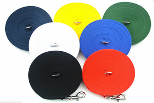 80ft Dog Training Lead 25mm Webbing In Various Colours