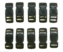 Load image into Gallery viewer, 13mm Black Nylon Curved Side-Release Buckles For Collars Straps Bags