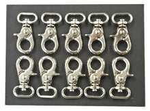 Load image into Gallery viewer, 16mm F/E Scissor Trigger Clips/Hooks Clasp Swivel Nickel Plated For Dog Leads Straps