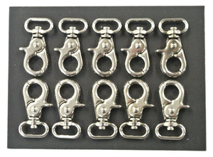 16mm F/E Scissor Trigger Clips/Hooks Clasp Swivel Nickel Plated For Dog Leads Straps
