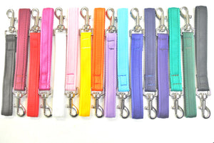 "10"" Short Close Control Dog Training Lead Leash 25mm Cushion Webbing In 16 Colours"