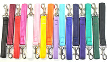 "Load image into Gallery viewer, 10"" Short Close Control Dog Training Lead Leash 25mm Cushion Webbing In 16 Colours"