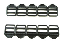 Load image into Gallery viewer, Plastic Ladder Lock Buckles 25mm For Webbing Straps Bags