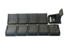 Black Plastic Cam Buckles Lever Flap 25mm Fastening Straps