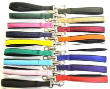 "Load image into Gallery viewer, 13"" Short Close Control Dog Lead With Padded Handle In Various Colours"