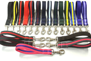 "10"" Soft Cushioned Padded Short Close Control Dog Lead In Various Colours"