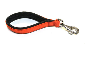 "10"" Short Close Control Dog Lead In Orange With Padded Handle"