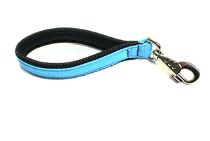 "13"" Short Close Control Dog Lead With Padded Handle In Sky Blue"