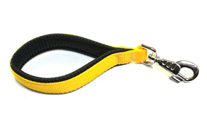 "13"" Short Close Control Dog Lead With Padded Handle In Yellow"