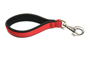 "10"" Short Close Control Dog Lead In Red With Padded Handle"