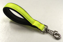 "Load image into Gallery viewer, 10"" Florescent Yellow Short Close Control Padded Handle Lead"