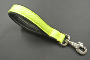 "10"" Fluorescent Yellow Short Close Control Lead With Padded Handle"