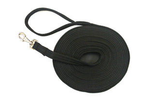 Horse Lunge Line Large Dog Training Lead Leash Soft Cushioned Padded 25mm Air Webbing In Black