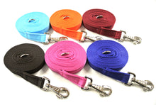 Load image into Gallery viewer, Horse lunge line dog training lead 10ft in 6 colours