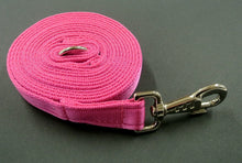 Load image into Gallery viewer, 10ft 3m Long Horse Lunge Line Large Dog Training Lead 25mm Cushion Webbing In Various Colours