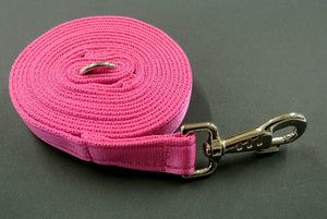 10ft 3m Long Horse Lunge Line Large Dog Training Lead 25mm Cushion Webbing In Various Colours