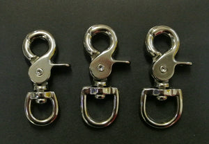 12mm 16mm 20mm Scissor Trigger Clips Hooks Swivel Nickel Plated For Dog Leads Straps