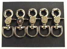 Load image into Gallery viewer, 12mm 16mm 20mm Scissor Trigger Clips Hooks Swivel Nickel Plated For Dog Leads Straps