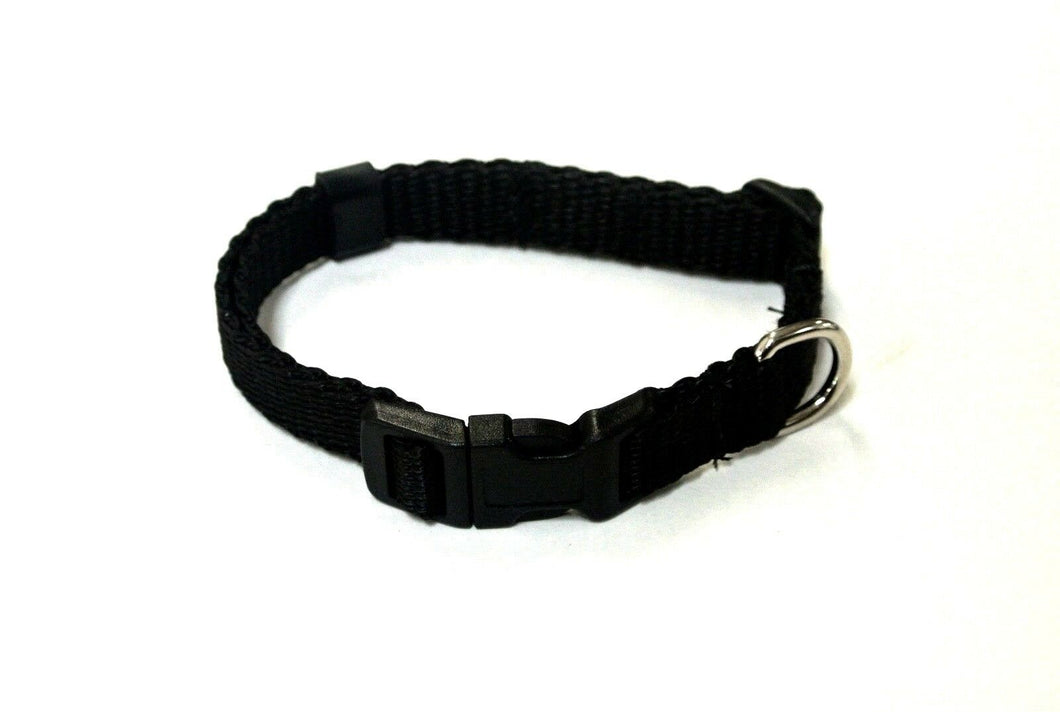 Adjustable Dog Puppy Collar 13mm Wide In Black X Small And Small