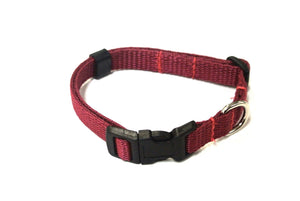 Adjustable Dog Puppy Collar 13mm Wide In Burgundy X Small And Small