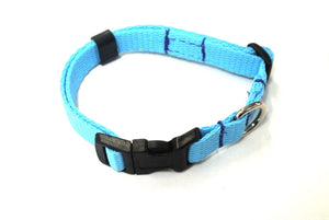 Adjustable Dog Puppy Collars 13mm Wide In Sky Blue X Small And Small