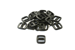 13mm Black Plastic 3 Bar Slides Triglides For Handles Straps Webbing Bags Crafts