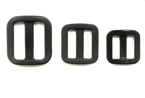16mm 20mm 25mm Wide Nylon Triglide 3 bar Slides For Bags Handles Leads Straps
