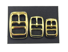 Load image into Gallery viewer, Caveson Buckles Brass Plated  In Widths Of 10mm 13mm 16mm 20mm 25mm Ideal For Dog Collars Webbing Straps Belts