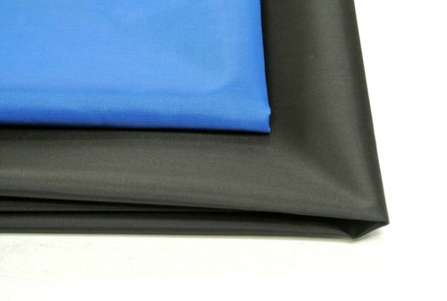 Black Or Blue 4oz Waterproof PU Coated Nylon Fabric Lining For Bags Crafts Arts