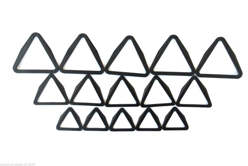 25mm 40mm 50mm Black Plastic Triangles For Webbing's Straps x5 x10 x25 x50 x100