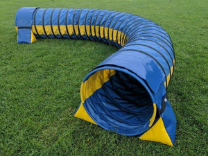 Dog Agility Training Tunnel Sandbags Adjustable For Indoor Outdoor Apparatus UV PVC Various Colours