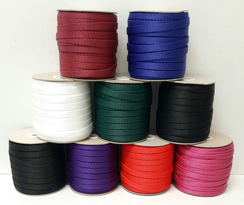 10mm Wide Webbing In 8 Various Colours For Bag Handles Straps Leads Crafts