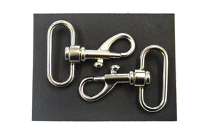 38mm Light Swivel Trigger Clips Hooks Nickel Plated x2 x5 x10