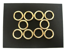 Load image into Gallery viewer, 16mm 20mm 25mm 38mm 50mm Solid Brass O-Rings For Dog Leads Collars Horse Reigns Leather Crafts x2 x5 x10