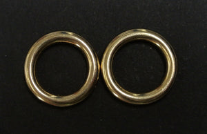 16mm 20mm 25mm 38mm 50mm Solid Brass O-Rings For Dog Leads Collars Horse Reigns Leather Crafts x2 x5 x10