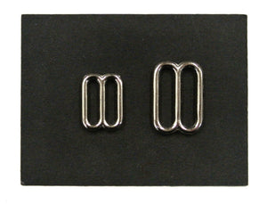 Metal 3 Bar Slides Nickel Plated 20mm 25mm Strong & Durable For Bags Straps Webbing Collars Leads
