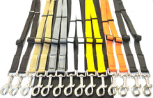 Load image into Gallery viewer, Adjustable 2 way dog lead coupler splitter in 20mm webbing in various colours