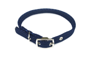 Adjustable Dog Puppy Collar In Navy 25mm Wide