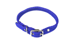 Adjustable Dog Puppy Collar In Royal Blue 25mm Wide