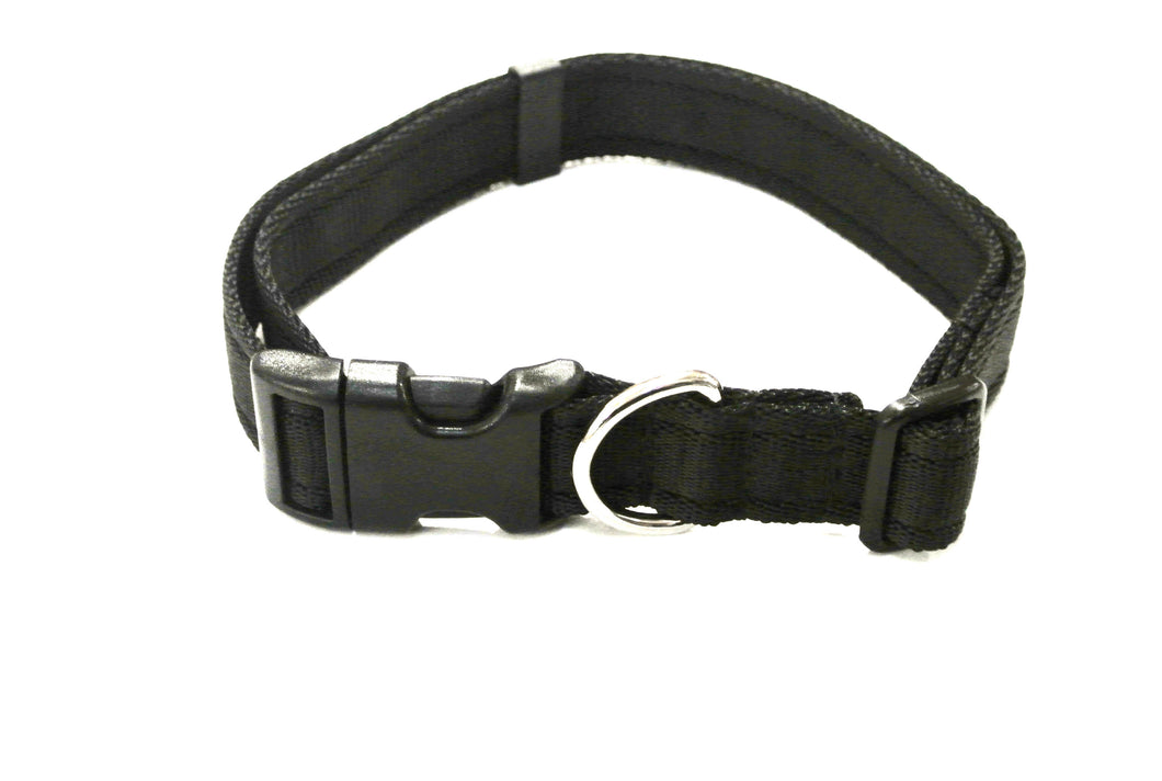 Adjustable dog collars small medium and large in black