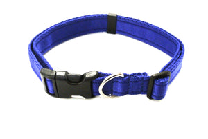 Adjustable dog collars small medium and large in royal blue