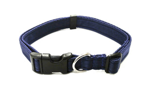 Adjustable dog collars small medium and large in navy