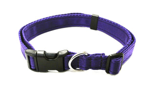 Adjustable dog collars small medium and large in purple