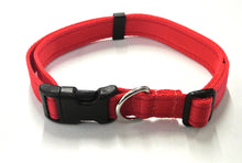 Load image into Gallery viewer, Adjustable dog collars small medium and large in red